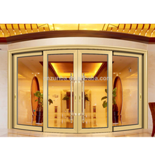 Interior aluminum hanging sliding door/arc sliding glass door/ villa /balcony partition