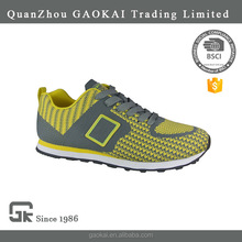 Four seasons breathable EVA TPR outsole men sneaker shoe for training