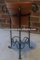 Wrought Iron Basket Pot Stand Holder Garden Flower Shelf