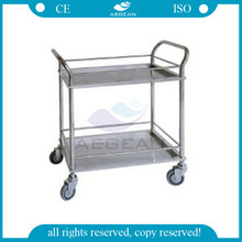 AG-SS022 Hospital operating room stainless steel surgery trolley