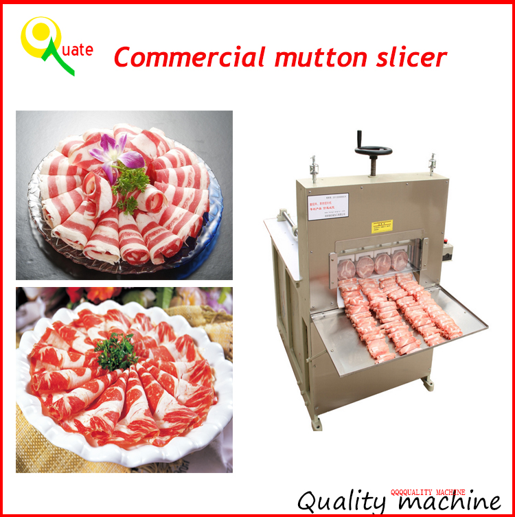 Large Capacity Beef Mutton Roll Slicing Machine /Commercial Chicken Meat Slicing Machine For Sale