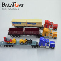 1:50 free wheel die cast container model truck toy for children