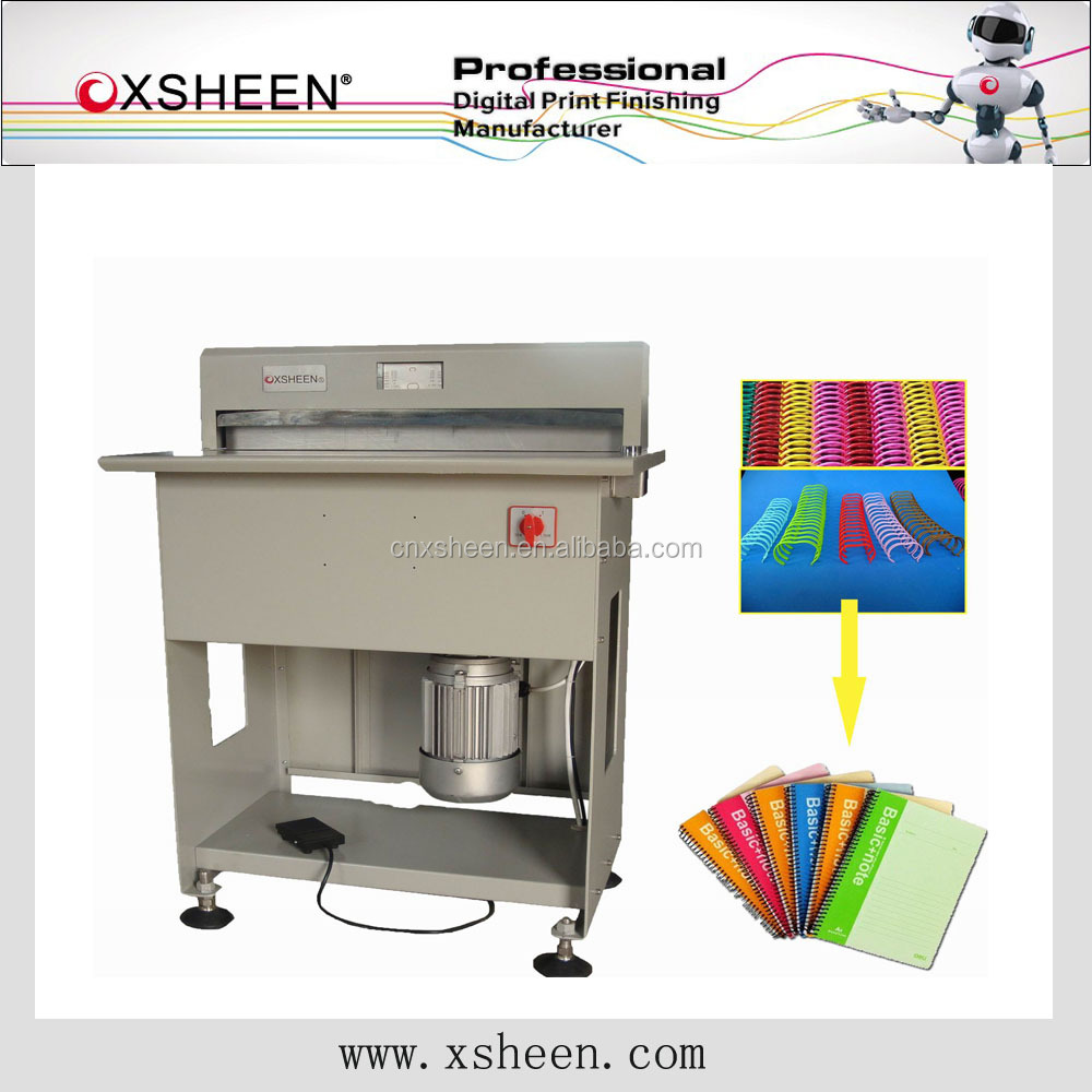 notebook one hole punching machine,hydraulic punching machine,6 holes ring binder notebook