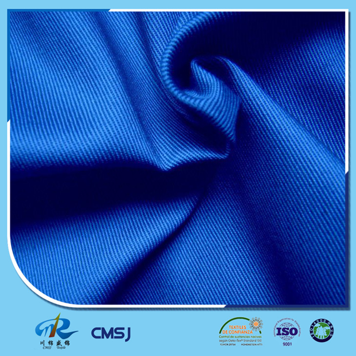 China manufacturer 65 poly 35 cotton 21s twill/drill fabric in rolls