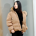CX-G-A-42A Short Coat Down Jacket Genuine Raccoon Fur Hood Collar Women Coat