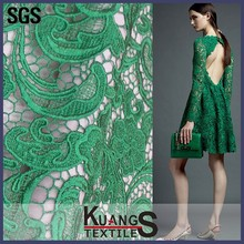 embroidery lace fabric emerald green