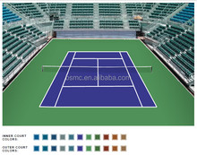 Outdoor ITF certificated tennis/basketball sports courts flooring surface