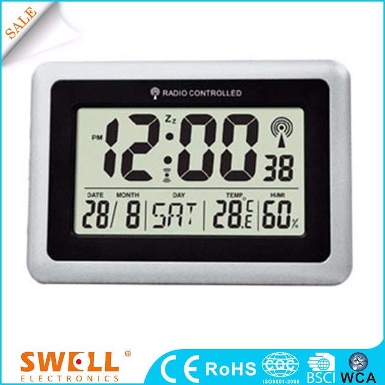 red electronic digital wall clock with alarm