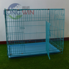 Handmade metal dog steel two door pet cage