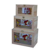 Useful unfinished wooden boxes for crafts