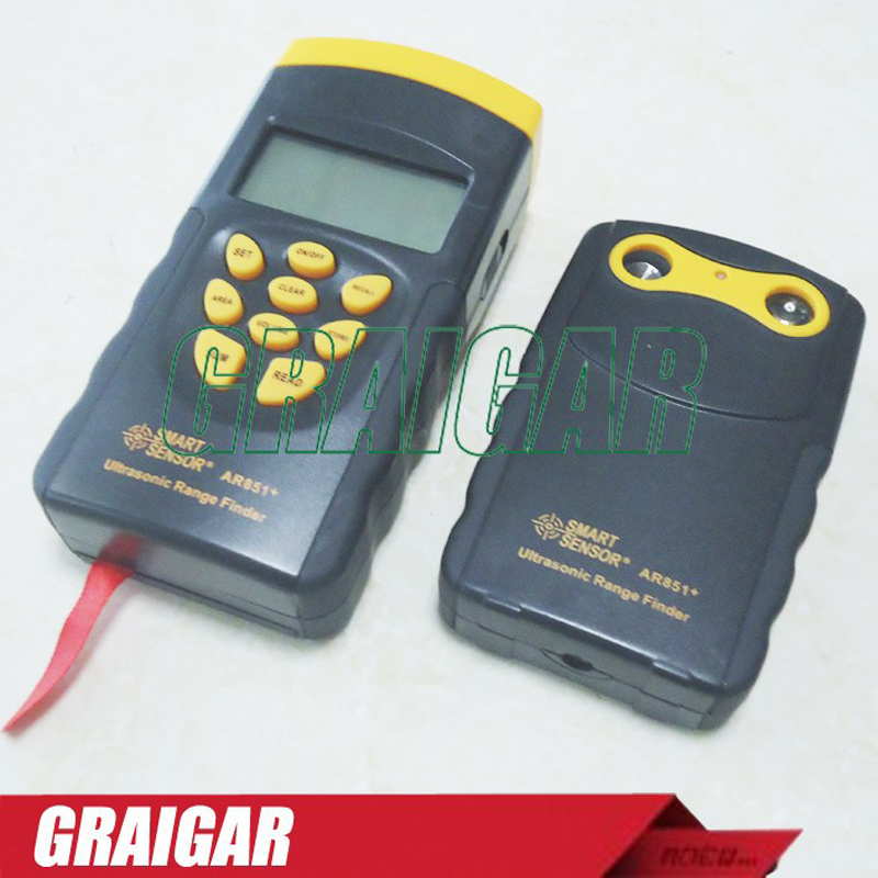 Ultrasonic Range Finder Smart Sensor AR851 Digital Ultrasonic Distance Meter Tester