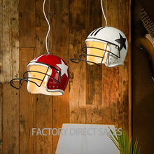 Nordic simple creative lighting Modern simple helmet shape resin pendant light