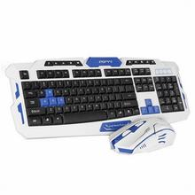 New Arrival HK8100 Intelligent Power Saving 2.4GHz USB Wireless Keyboard and Mouse(a set) for mechanical keyboard