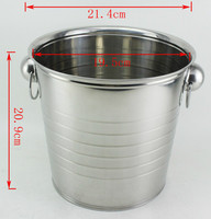 2014 hot selling stainless steel ice bucket,capacity 7L ice bucket