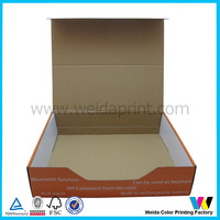 2016 New design CMYK printing corrugated paper shipping mailing box