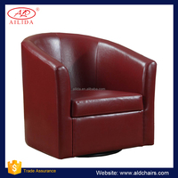 AC-101 Bright Color Leather Single Sofa Swivel Chair Accent Chair