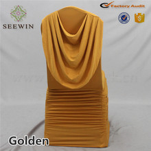 New Style bright Spandex banquet chair cover with valance