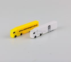 OEM ABS truck shape usb flash drive with logo print , OEM truck pen drive, truck usb with logo print