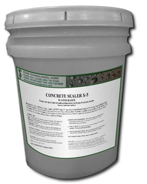 5 Gallons of Satin Finish Acrylic Concrete Sealer X-5