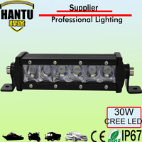 3d spot beam led light bar 30w 7.5 inch led headlight for offroad