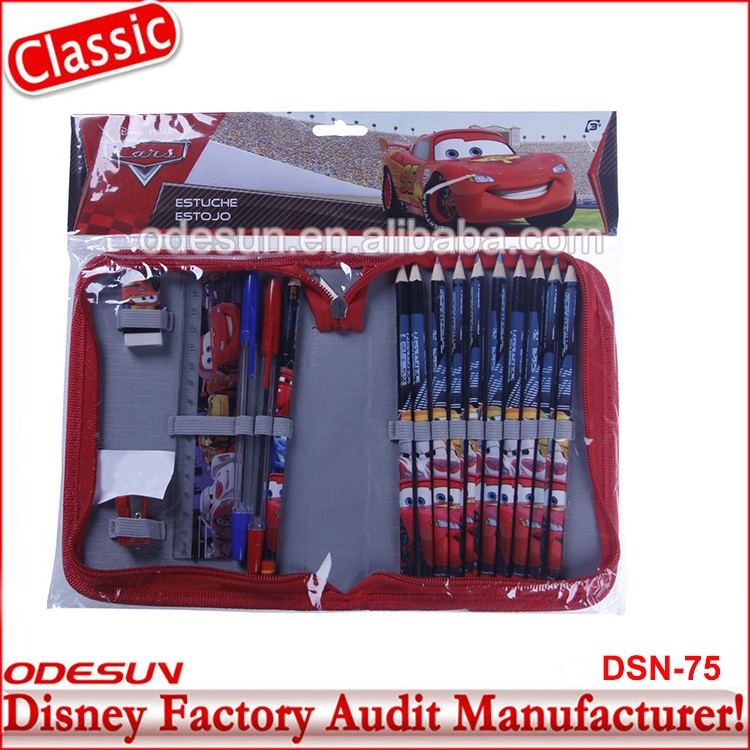 Disney Universal NBCU FAMA BSCI GSV Carrefour Factory Audit Manufacturer Hot Sale Cheap Car Shape Eva Pencil Case
