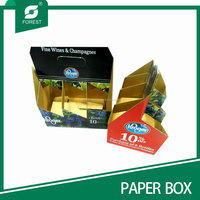 Customized full color recycled cardboard 6 pack White Wine box