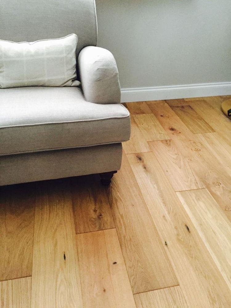 50cm wide 3-ply grey white oak parquet distressed engineered wood plank flooring
