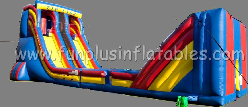 high quality pvc cheap large inflatable zip line slide for sale F6007
