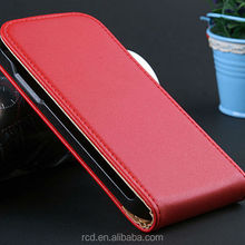 NEW Flip Cover Genuine Leather Case For Samsung Galaxy S4 mini I9190 Open Up And Down RCD03474