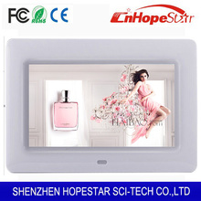 Cheap 7 inch widescreen digital photo frame mini digital photo frame ads display made in China