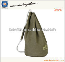 Promotion cotton drawstring mens green nylon drawstring bag
