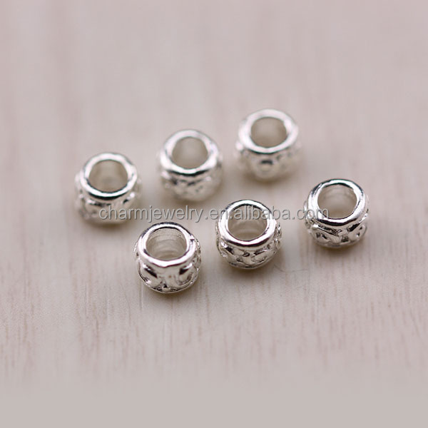 SEF031 925 Sterling Silver jewelry Findings wholesale DIY handmade 5mm silver tube for bracelet making