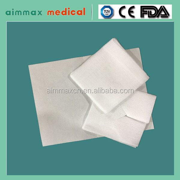 guaze medical for gauze swabs ,gauze roll ,gauze ball/certificate approved Non woven sponges gauze swab