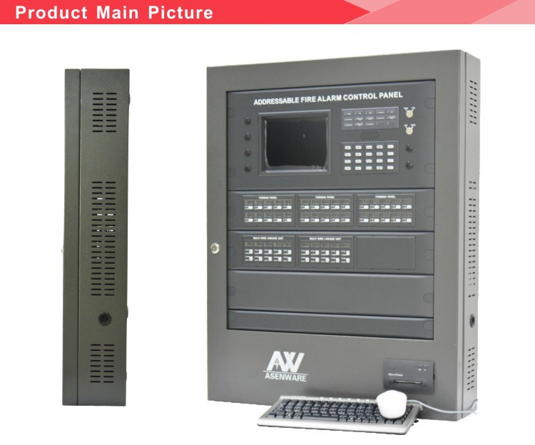 2 Loops Addressable Fire Alarm Control Panel AW-AFP2100