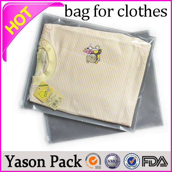 Yason shrink capsules & bottle dressings plastic garment bag with zipper antistatic ldpe grip seal bags for clothes packaging