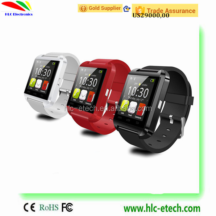 U8 New Bluetooth Smart Watch U Smart Watch For IPhone 4/5S/6 Android /Windows/Ios Phone Smart Phones