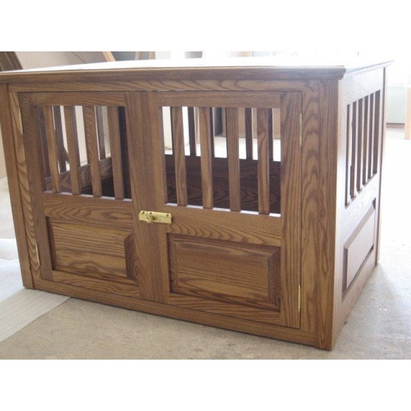 Wooden Dog Furniture Pet/dog Crate/house Woodturnings with door