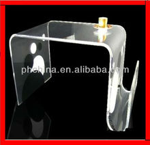 JAD-204 2013 Year Acrylic Table With Magazine Holder,New Style Plexiglass Side Tanle.Bent Perspex Coffe Desk