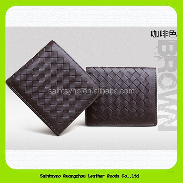 15410 Leather men wallet anti-theft alarm