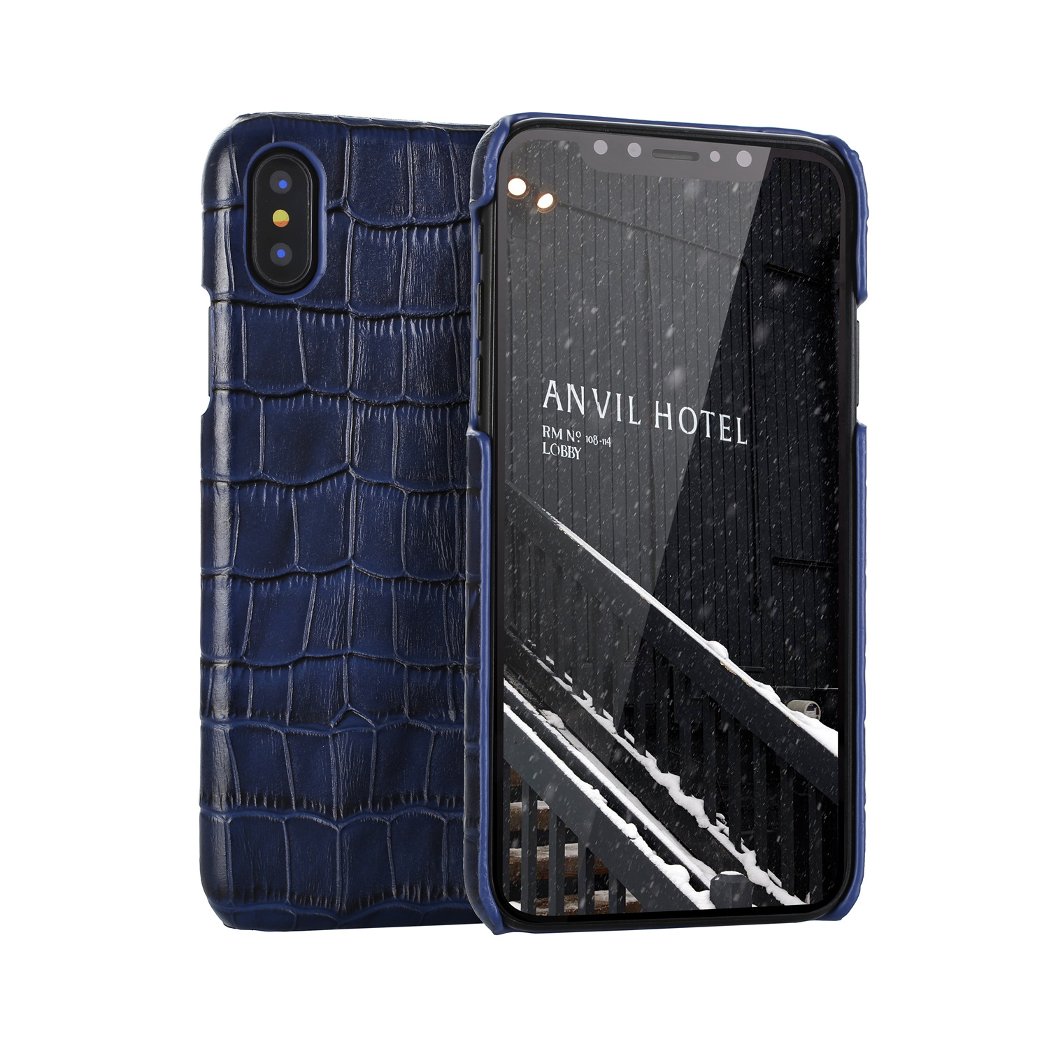 Top Quality Crocodile Embossed Leather Cell Phone Case