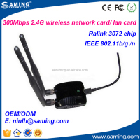 300Mbps 2.4GHz omni antenna wireless usb 2.0 network adapter/ lan card