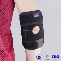 Black adjustable elbow support With Spring medical elbow support pad waterproof elbow support neoprene safety arm sleeve