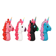 New Style Cartoon Unicorn Pen Drive 64gb 32gb usb flash drive cute horse pendrive real capacity 4gb 8gb 16gb memory stick