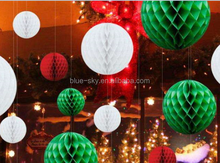 Decorating christmas big balls paper honeycomb paper ball, party decoration balloons
