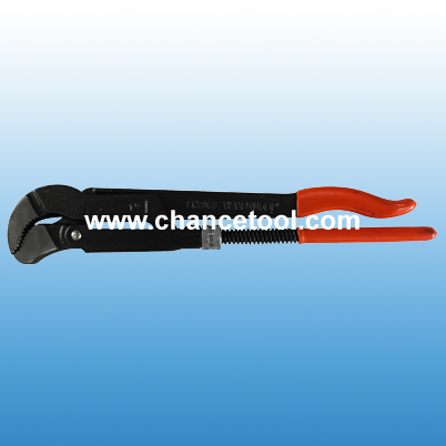 Dipped handle S type bent nose Pipe wrench PS076