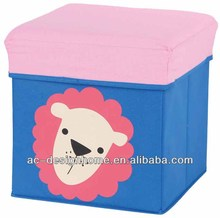 NON-WOVEN FOLDING KIDS SEA LION STORAGE OTTOMAN