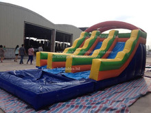 Commercial large plastic pool slide adult size inflatable water slide