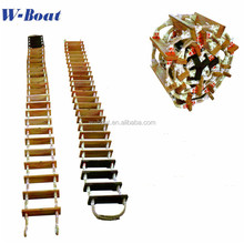 Marine Embarkation Ladder Boat Safety Ladder Wood / Aluminium Rope Ladder