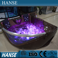 HS-B219 new design art ellipse massage apron corner bathtub supplier