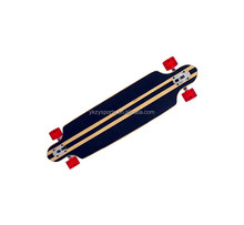 skateboard longboard with canadian maple deck and pu wheels